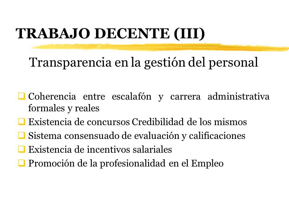 Transparencia en la gestión del personal