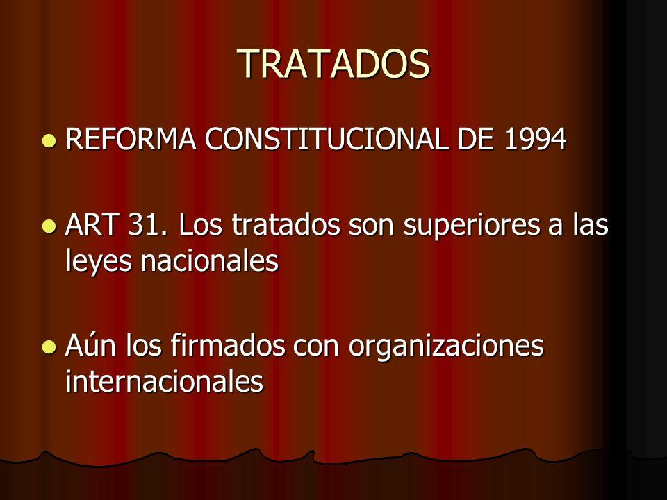 TRATADOS REFORMA CONSTITUCIONAL DE 1994