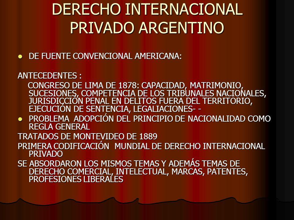 DERECHO INTERNACIONAL PRIVADO ARGENTINO