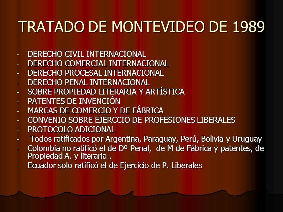 TRATADO DE MONTEVIDEO DE 1989