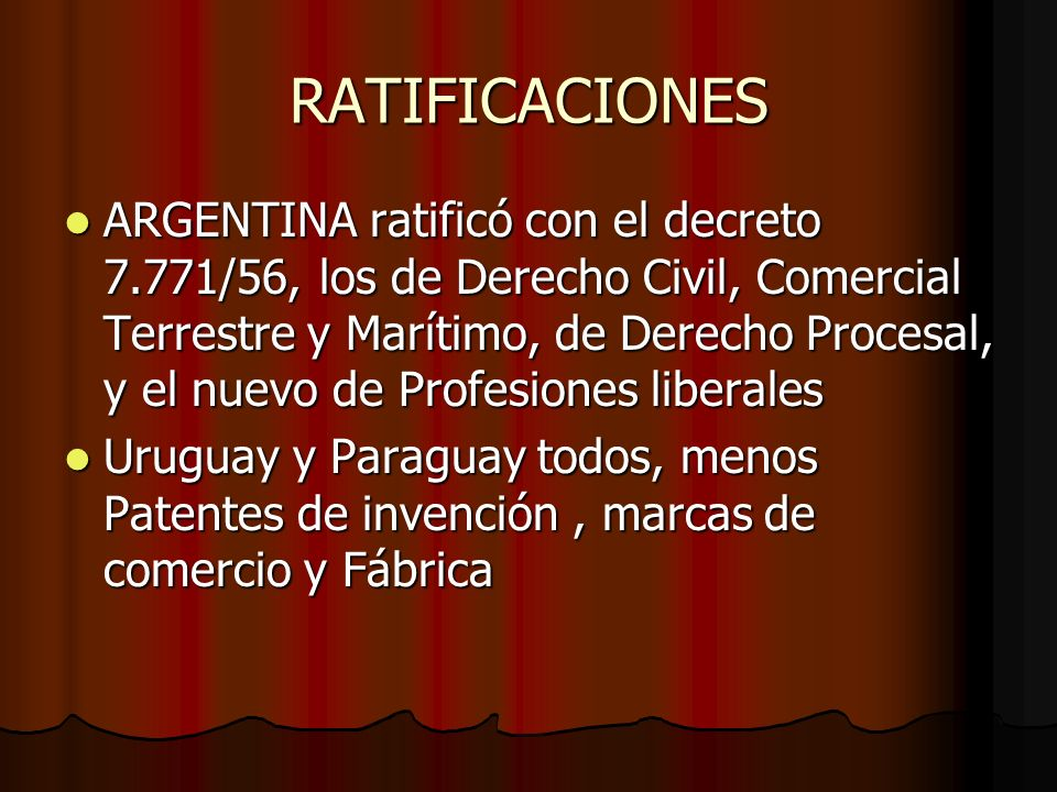 RATIFICACIONES