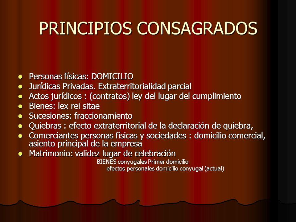 PRINCIPIOS CONSAGRADOS
