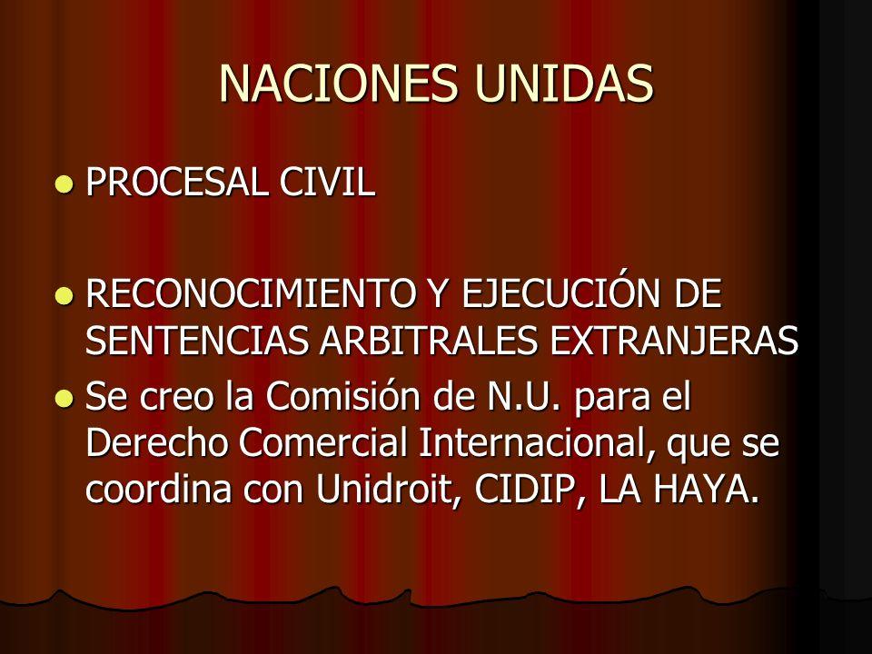 NACIONES UNIDAS PROCESAL CIVIL