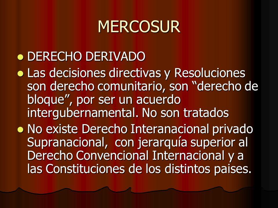 MERCOSUR DERECHO DERIVADO