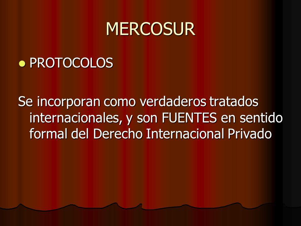 MERCOSUR PROTOCOLOS.
