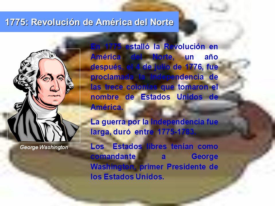 1775: Revolución de América del Norte