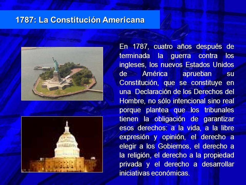 1787: La Constitución Americana