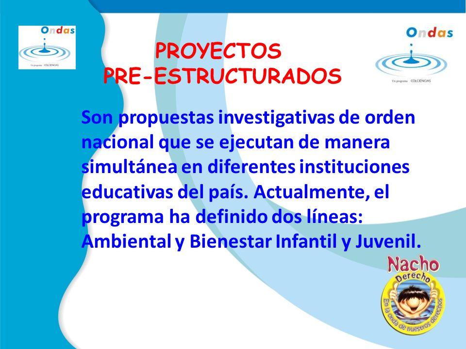 PROYECTOS PRE-ESTRUCTURADOS.
