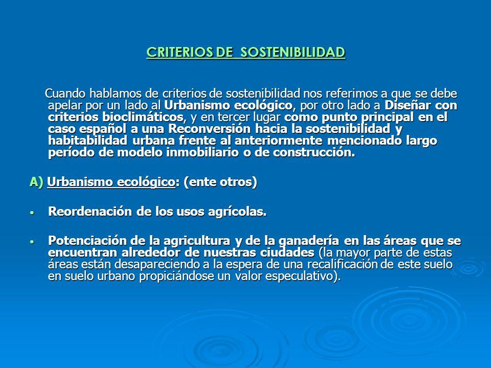 CRITERIOS DE SOSTENIBILIDAD