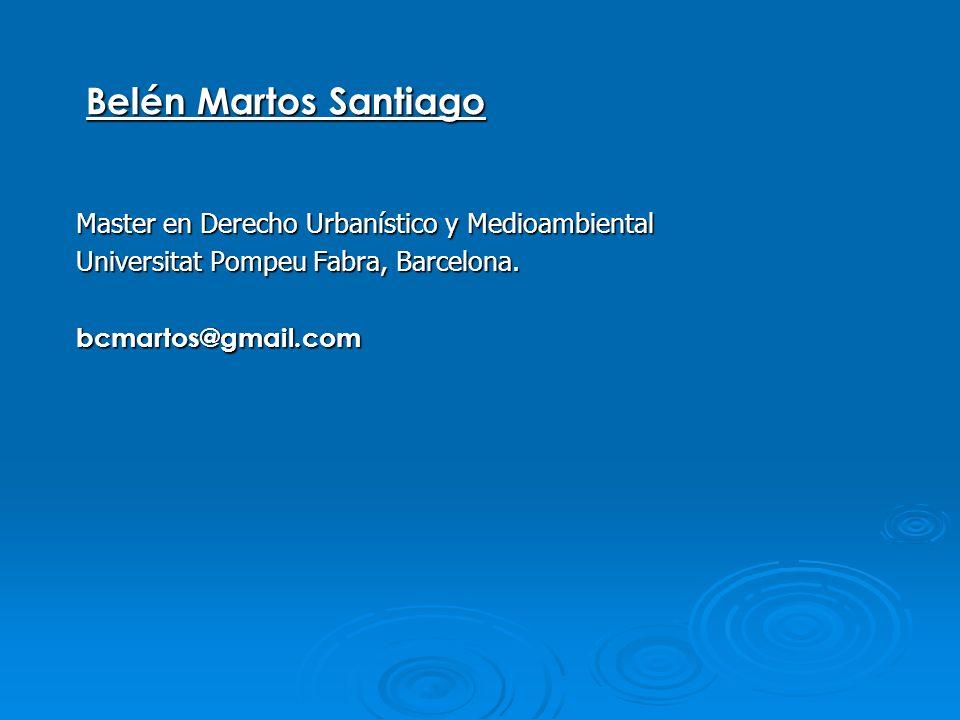 Belén Martos Santiago Master en Derecho Urbanístico y Medioambiental