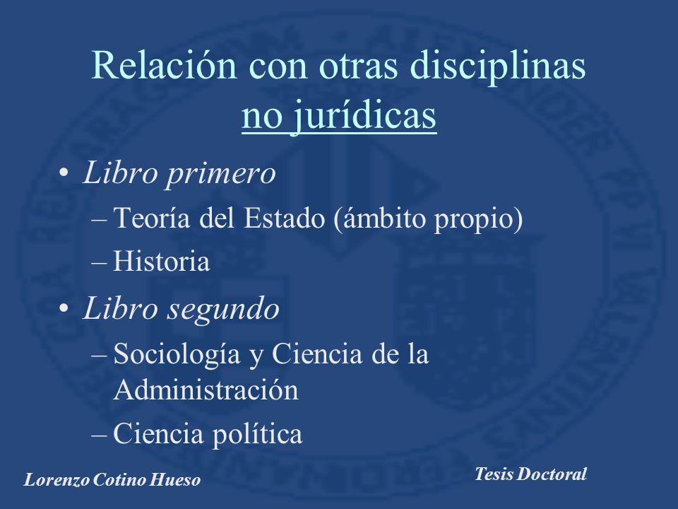 Relación con otras disciplinas no jurídicas