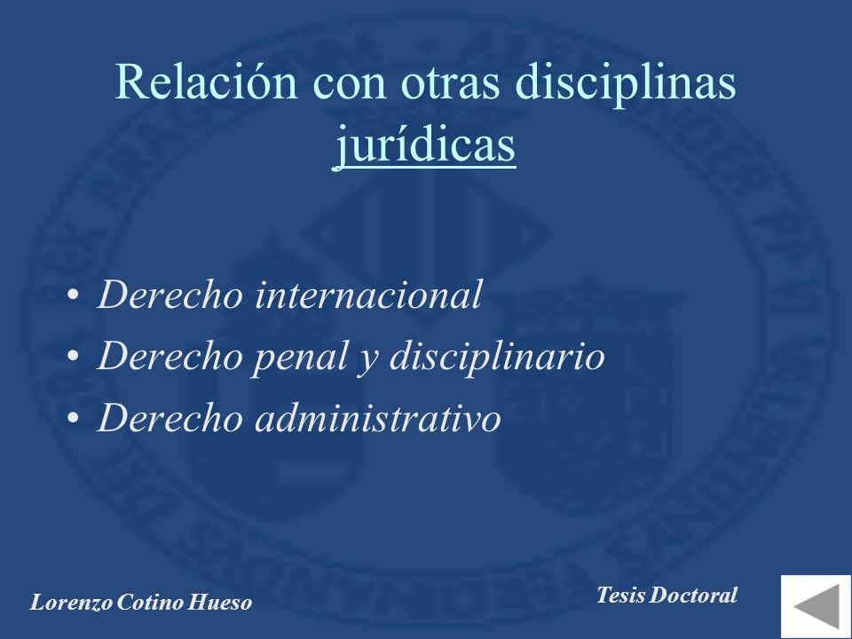 Relación con otras disciplinas jurídicas