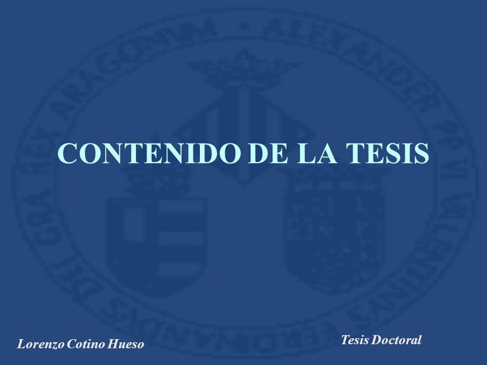 CONTENIDO DE LA TESIS Tesis Doctoral Lorenzo Cotino Hueso