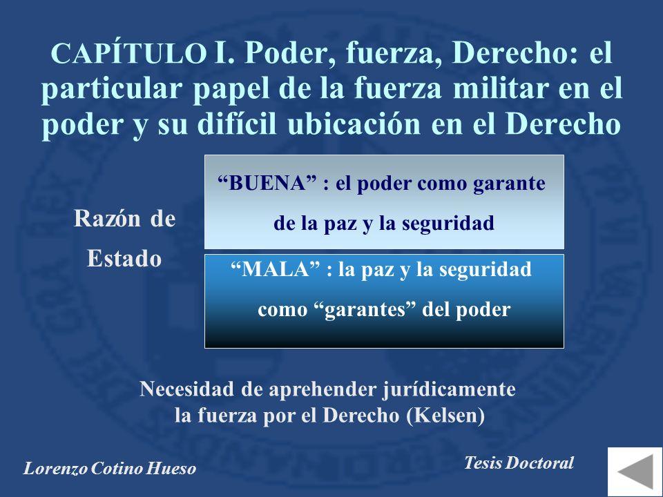 CAPÍTULO I. Poder, fuerza, Derecho: el particular papel de la fuerza militar en el poder y su difícil ubicación en el Derecho