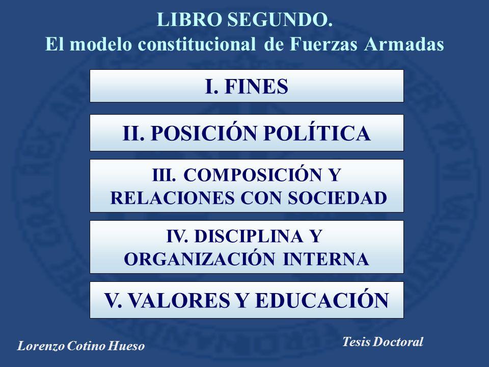 LIBRO SEGUNDO. El modelo constitucional de Fuerzas Armadas