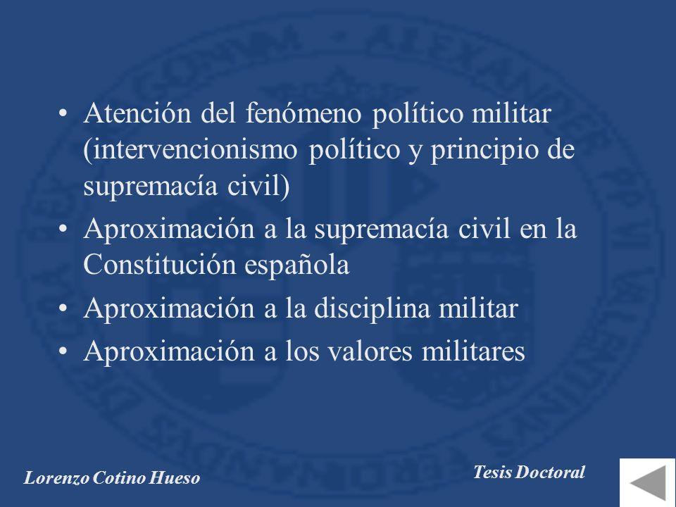 Aproximación a la supremacía civil en la Constitución española