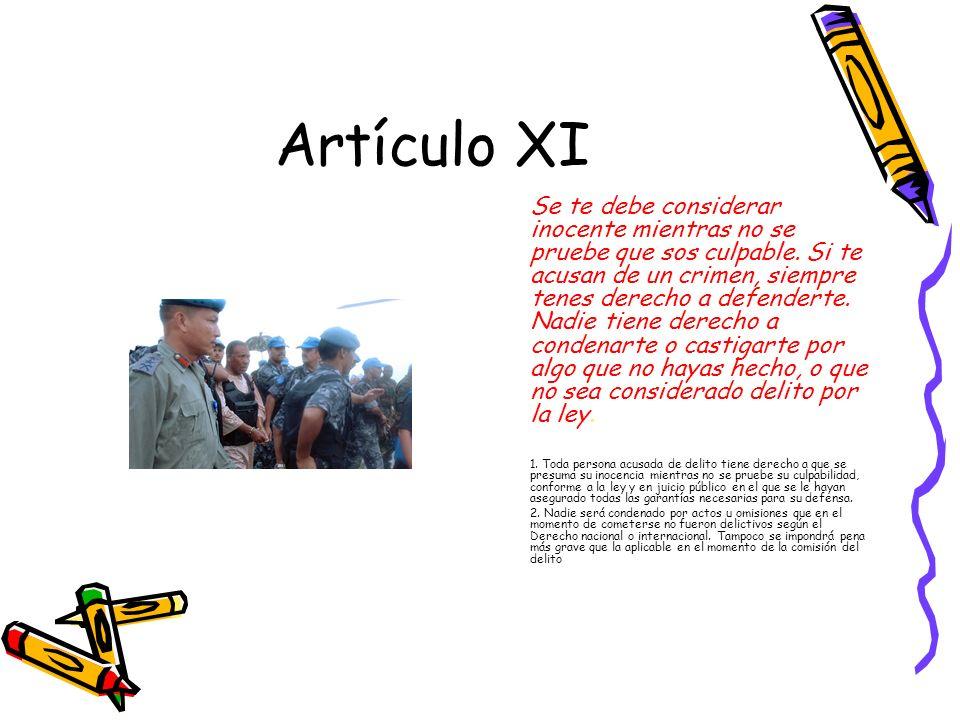 Artículo XI