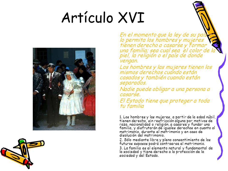 Artículo XVI