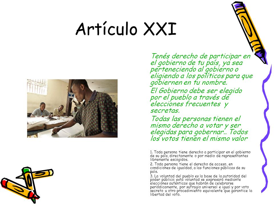Artículo XXI