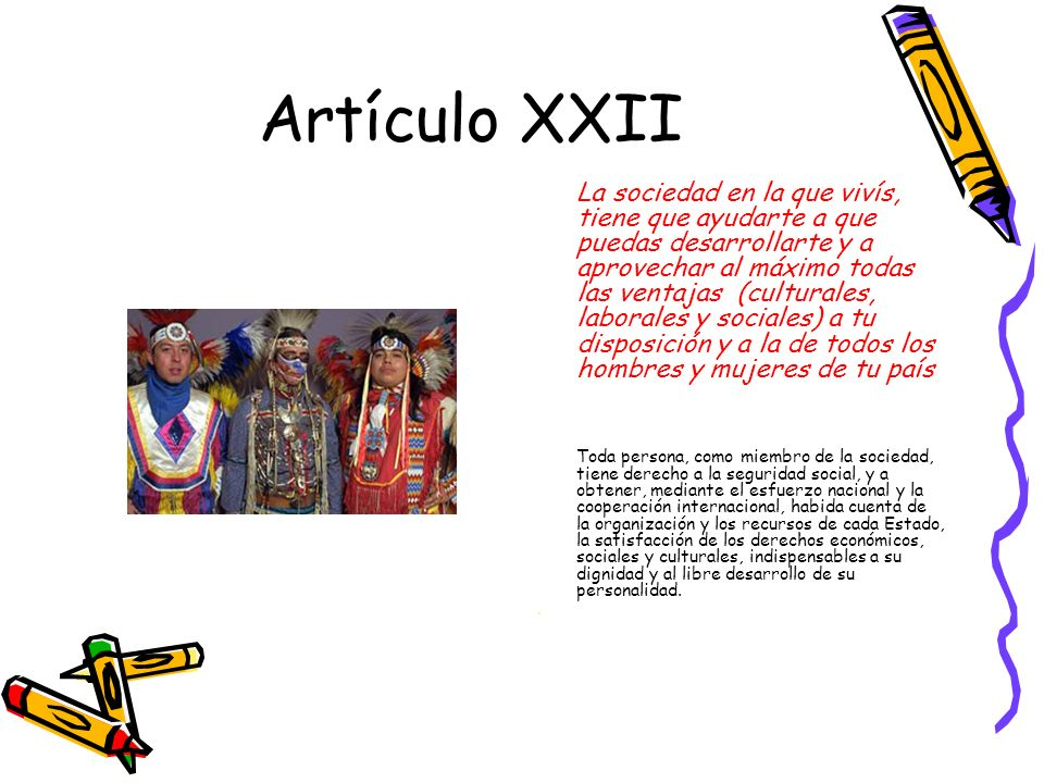 Artículo XXII