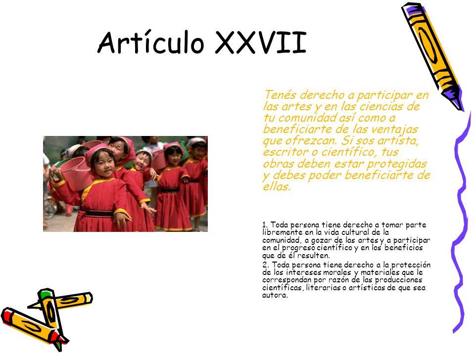 Artículo XXVII