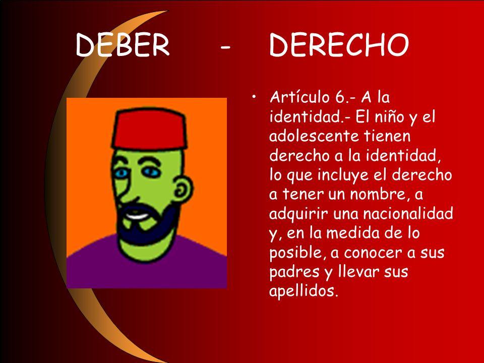 DEBER - DERECHO