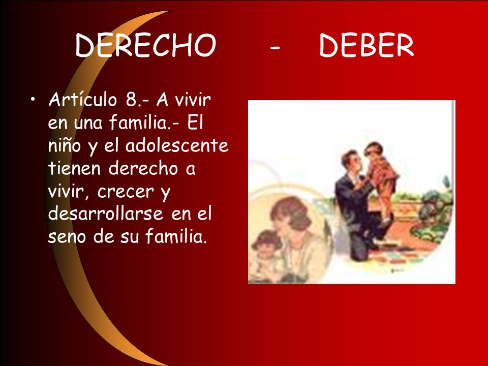 DERECHO - DEBER