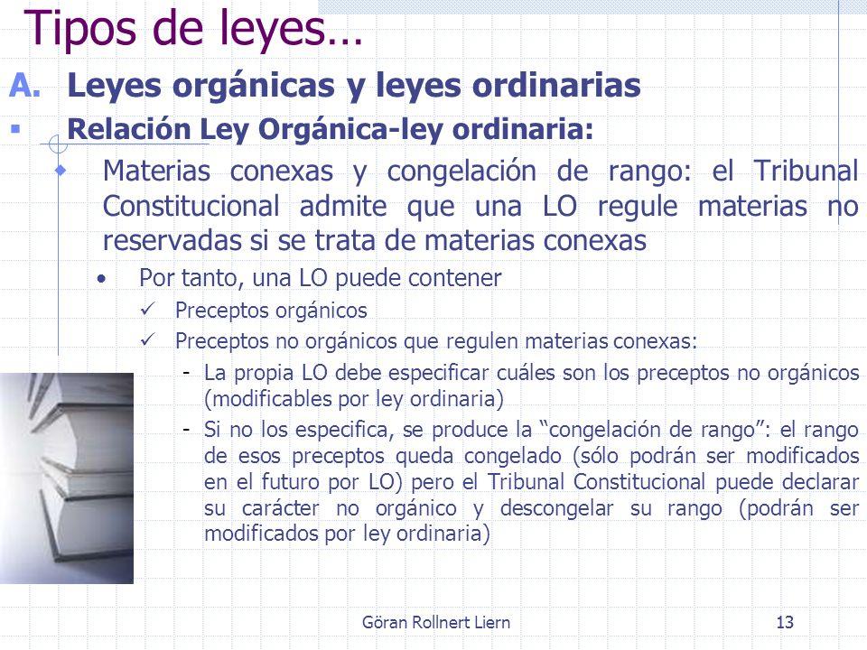 Tipos de leyes… Leyes orgánicas y leyes ordinarias