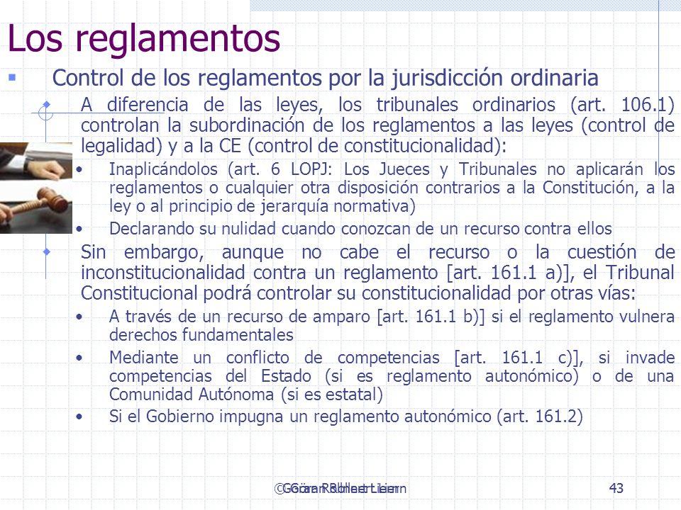 Los reglamentos Control de los reglamentos por la jurisdicción ordinaria.