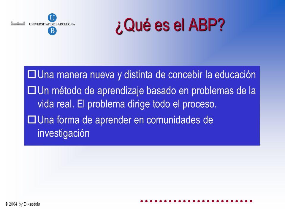 ¿Qué es el ABP Una manera nueva y distinta de concebir la educación