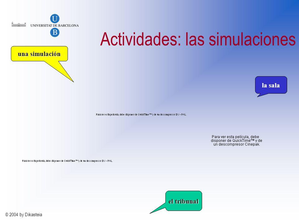 Actividades: las simulaciones