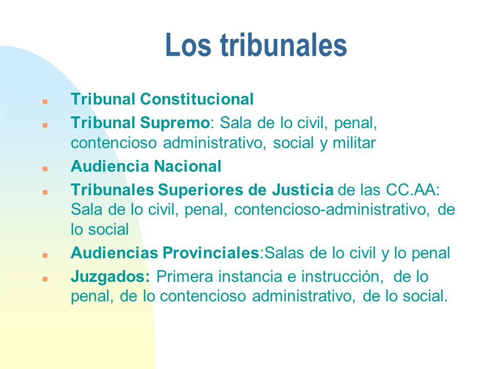 Los tribunales Tribunal Constitucional