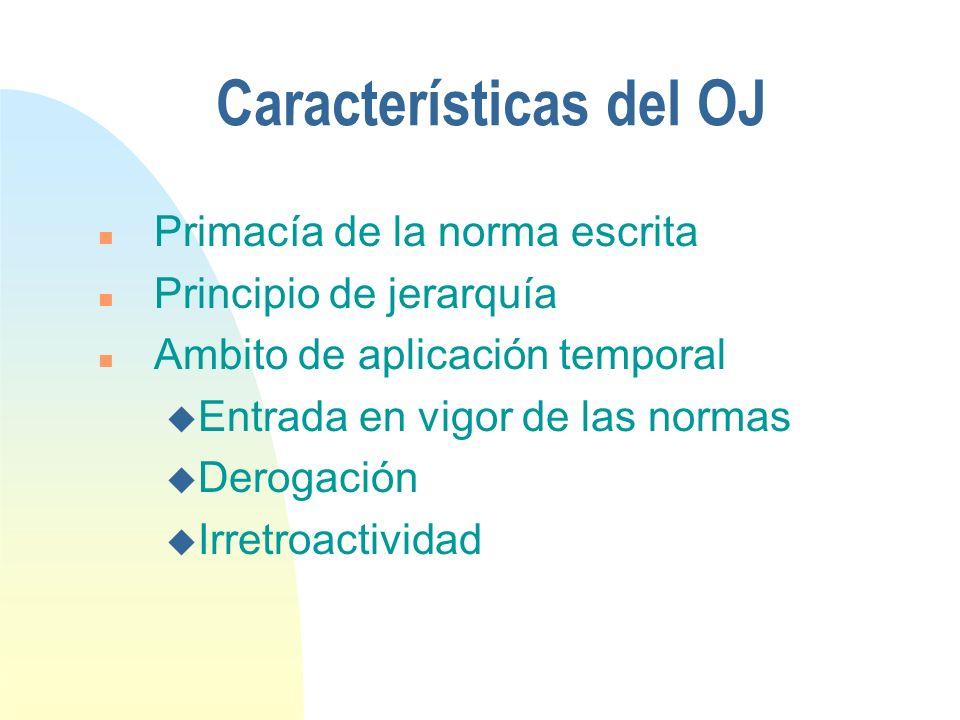 Características del OJ