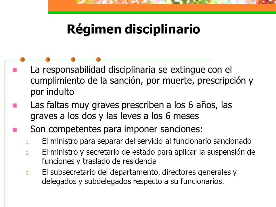 Régimen disciplinario