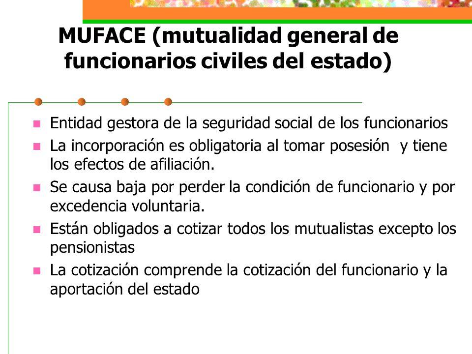 MUFACE (mutualidad general de funcionarios civiles del estado)