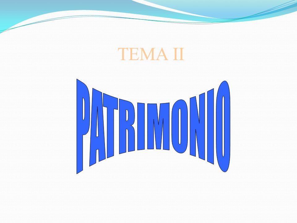 TEMA II PATRIMONIO