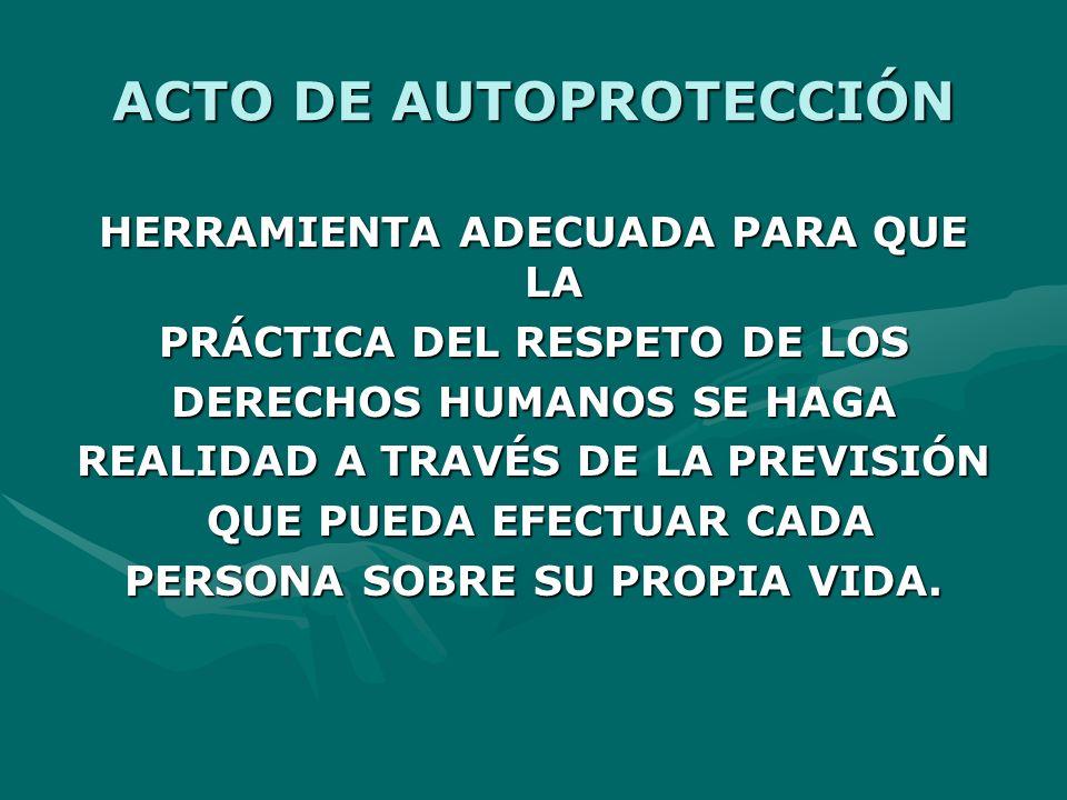 ACTO DE AUTOPROTECCIÓN