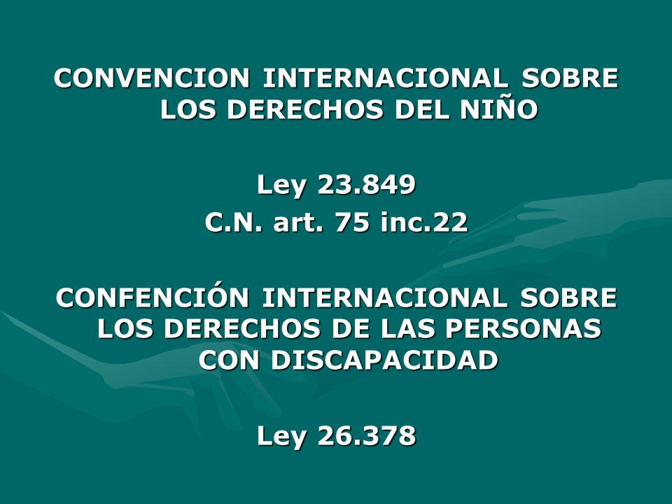 CONVENCION INTERNACIONAL SOBRE LOS DERECHOS DEL NIÑO