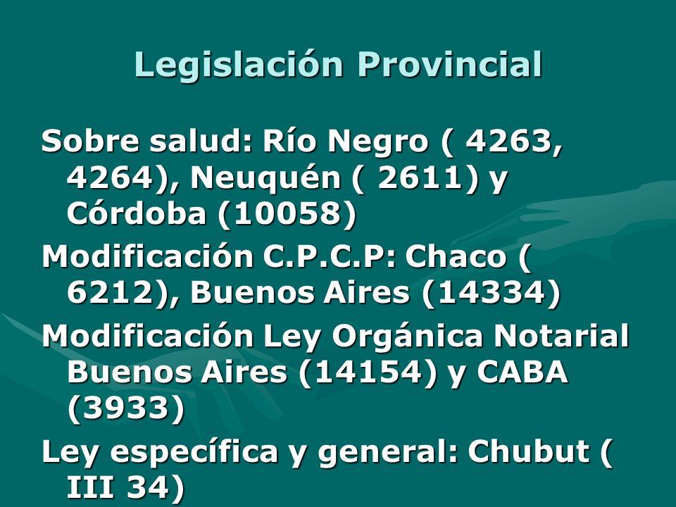 Legislación Provincial
