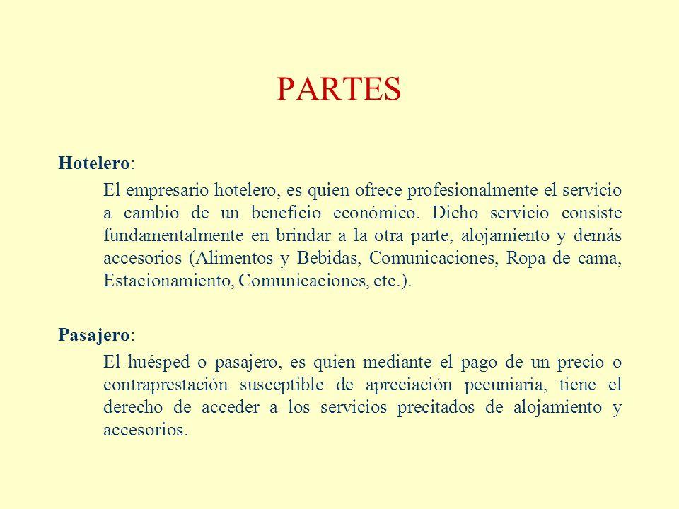 PARTES Hotelero: