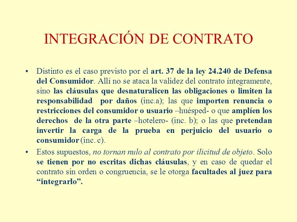 INTEGRACIÓN DE CONTRATO