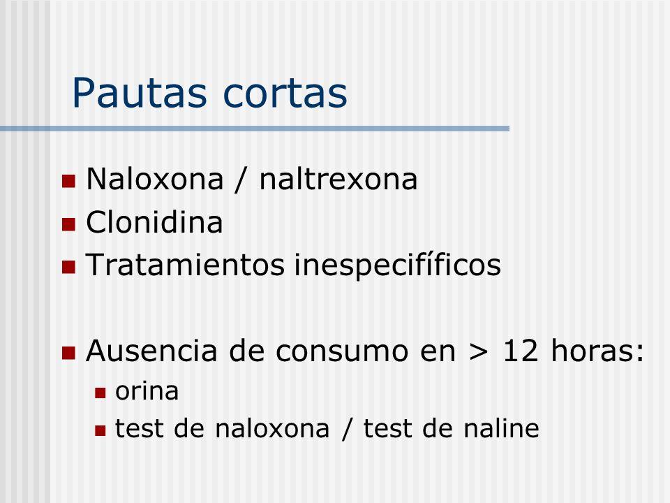 Pautas cortas Naloxona / naltrexona Clonidina