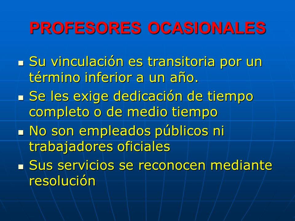 PROFESORES OCASIONALES