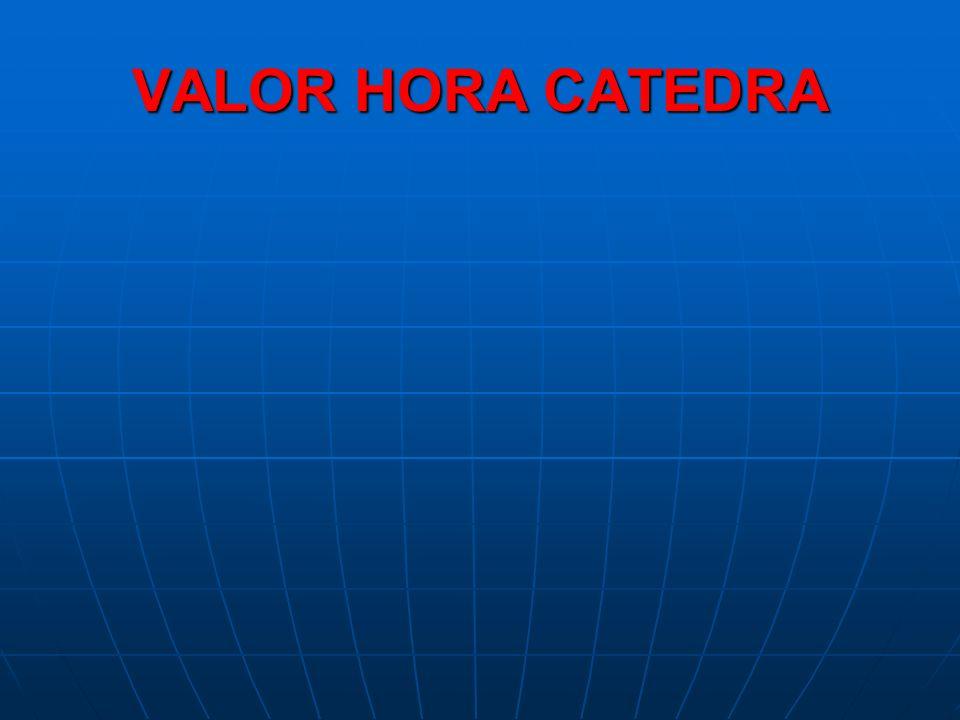 VALOR HORA CATEDRA