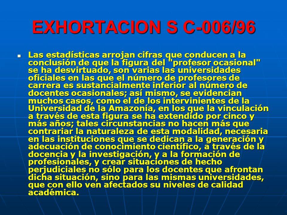 EXHORTACION S C-006/96