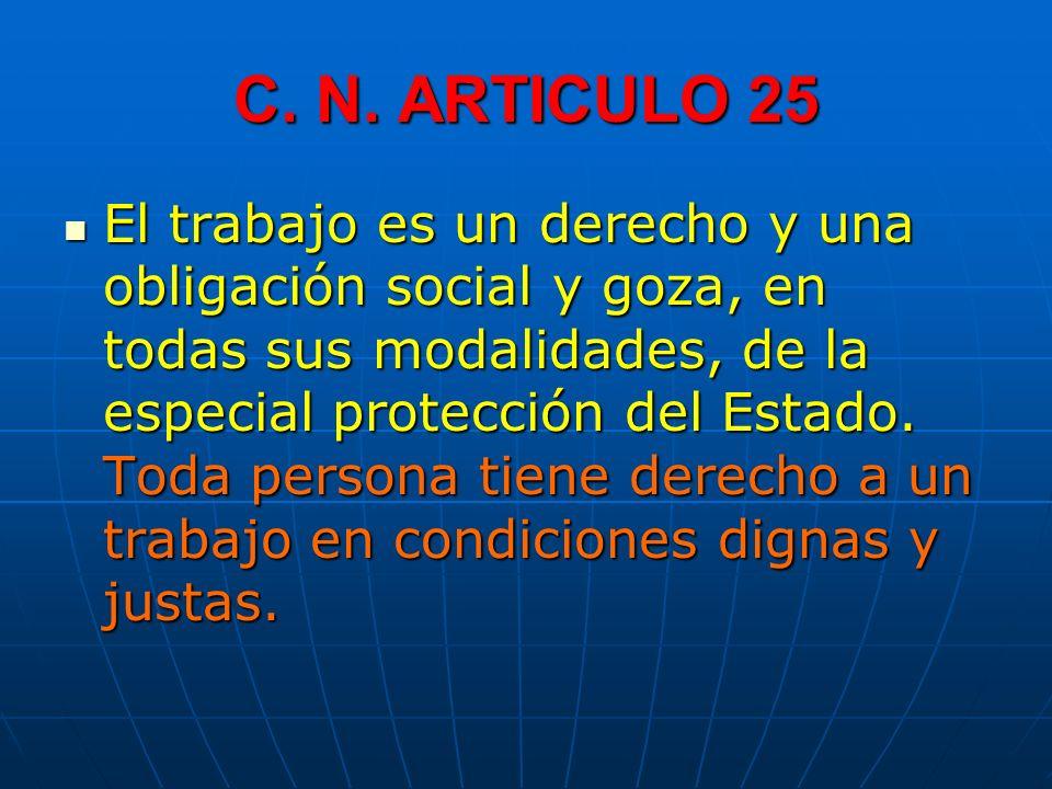 C. N. ARTICULO 25