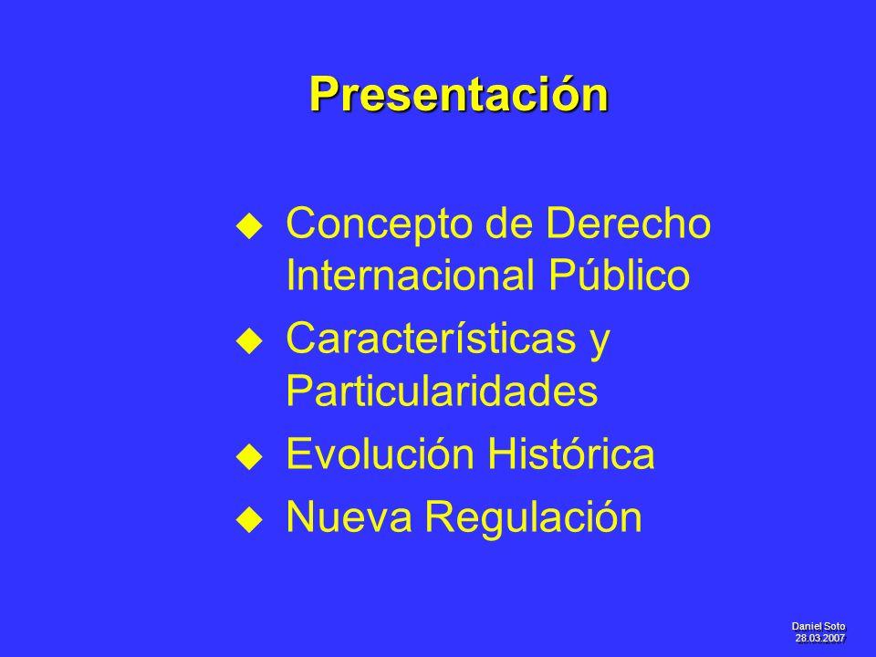Presentación Concepto de Derecho Internacional Público