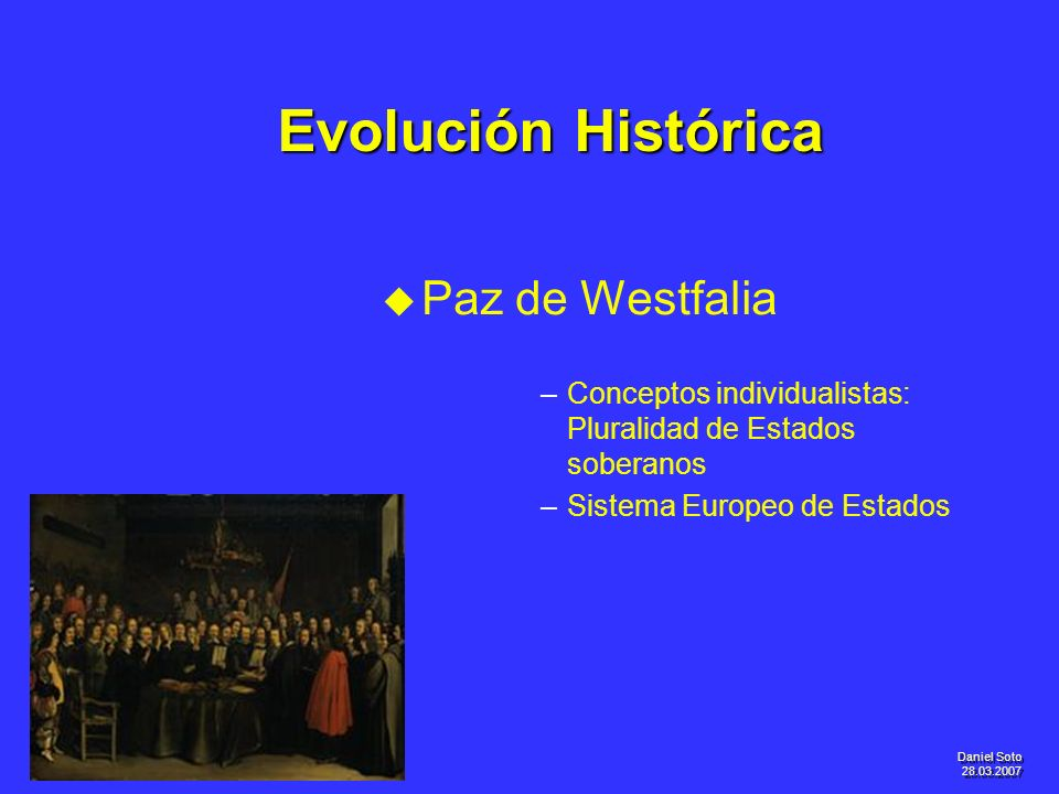 Evolución Histórica Paz de Westfalia