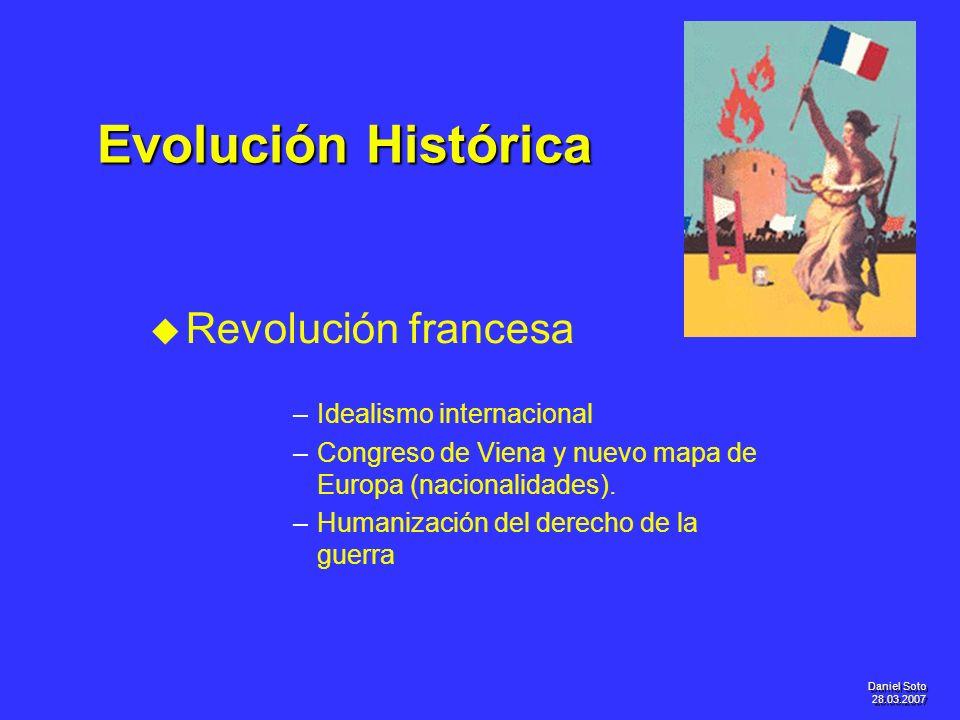 Evolución Histórica Revolución francesa Idealismo internacional