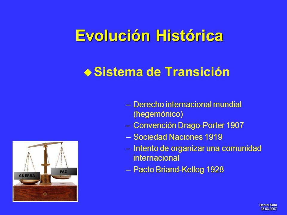 Evolución Histórica Sistema de Transición